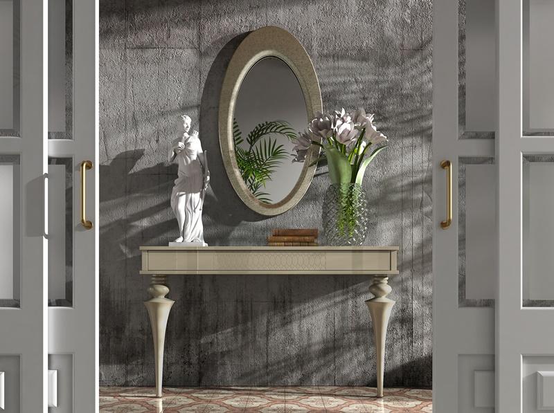 ensemble console et miroir mod ga08. Black Bedroom Furniture Sets. Home Design Ideas