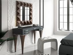 Ensemble coiffeuse, miroir et banquette. Mod. BELL04