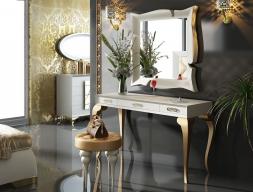 Ensemble coiffeuse, miroir et banquette. Mod. BELL15
