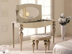 Ensemble coiffeuse, miroir et banquette. Mod.PA0006