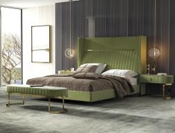 Chambre tapissée et en acier inox. Mod. BRDOT