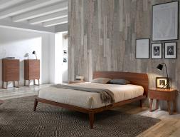 Chambre en bois de noyer. Mod. NOTTE