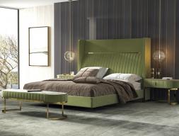 Chambre tapissée et en acier inox. Mod. CAMILE