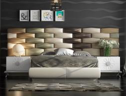 Chambre tapissée design. Mod. FADILA