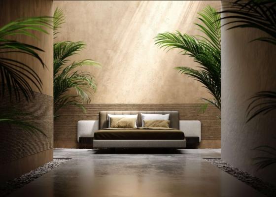 Chambre design tapissée.Mod: CLAUDINE