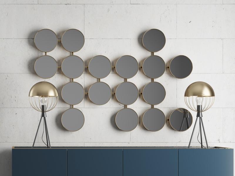 Ensemble buffet et miroir de design. Mod. MONSIEUR