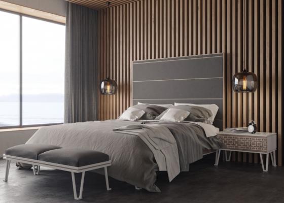 Chambre design et tapissée.Mod: POSITANO