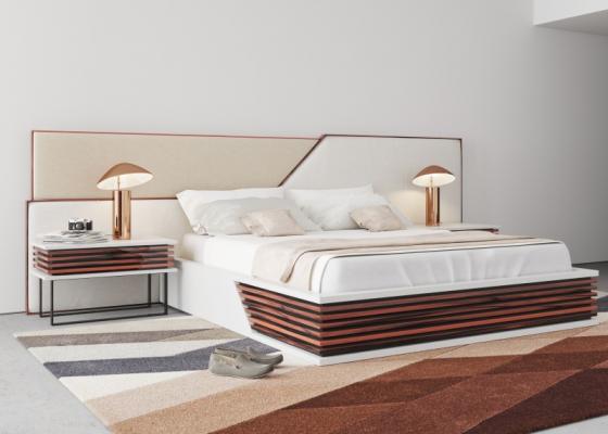 Chambre design et tapissée.Mod: AJACCIO