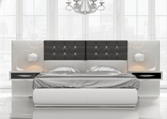 Chambre de design laquée et tapissée.Mod: ALEA