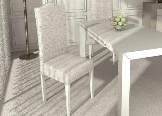 Juego de 2 sillas tapizadas : ELEGANT PERLATTO