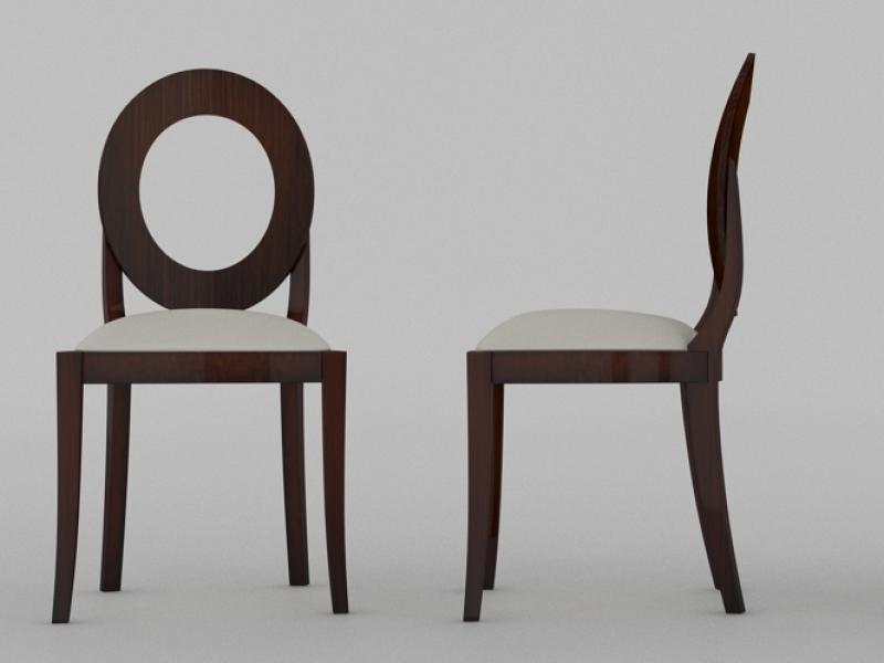 Ensemble de 2 chaises avec dossier rond mod ff35512 for Housse de chaise dossier rond