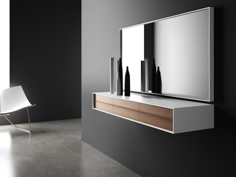 Ensemble console et miroir mod tandem for Miroir et console