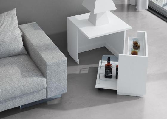 Bout de canapé meuble bar. Mod. JB