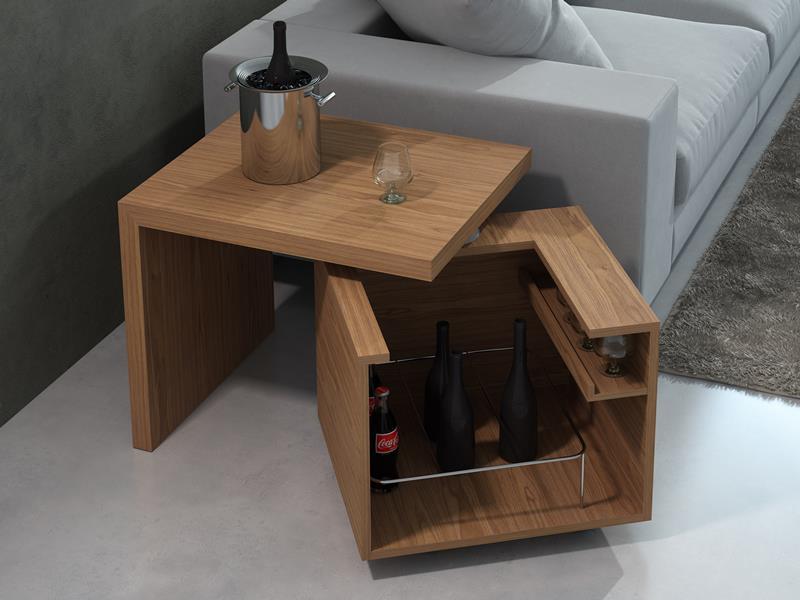 Bout de canap� meuble bar. Mod. GIRO