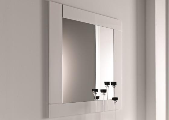 Espejo lacado con vivos en acero, mod: NOVO ESPEJO