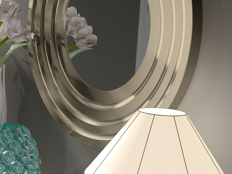Miroir rond . Mod. FLEUR