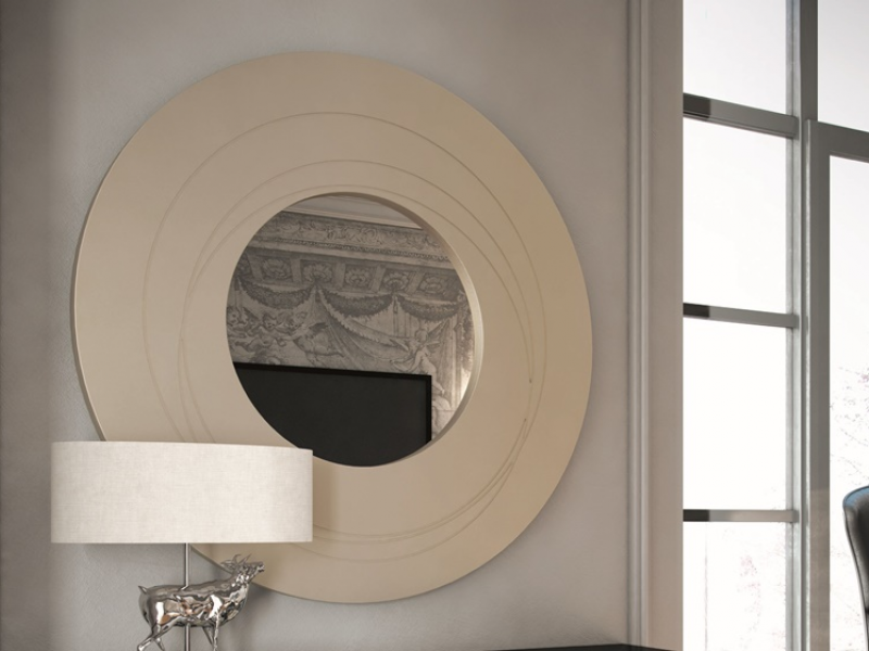 Miroir rond avec relief. Mod. LIONS