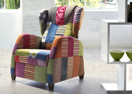 Fauteuil relax. Mod. KEVIN PATCHWORK RELAX