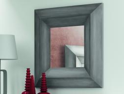 Miroir avec encadrement bois à double onglet. Mod. GORDON