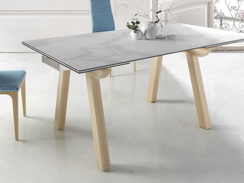 table manger extensible avec plateau c ramique mod japo