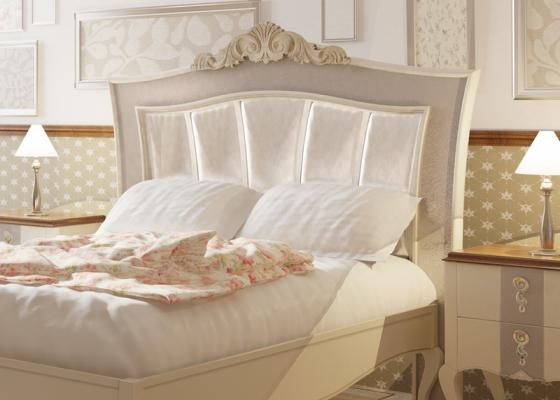 Tête de lit laquée et garnie. Mod. PERLATTO L2132