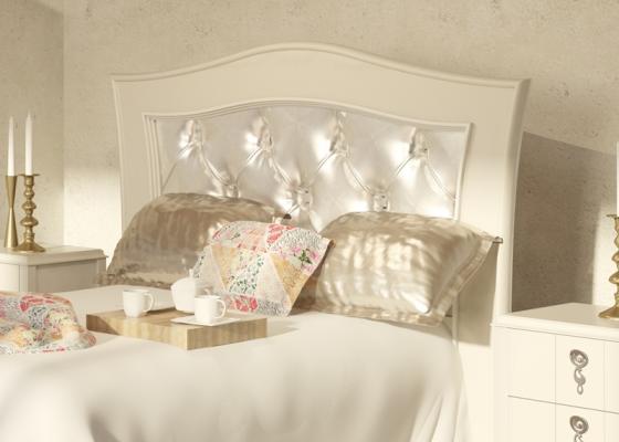 Tête de lit laquée et garnie. Mod. PERLATTO L2209