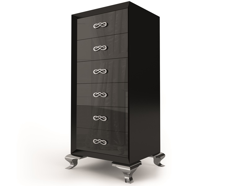 chiffonnier laqu 6 tiroirs mod suraya. Black Bedroom Furniture Sets. Home Design Ideas