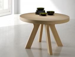 Table à manger ronde extensible. Mod. ESFERA