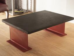 Table basse avec plateau de  3 cm. Mod. TOKIO3MM