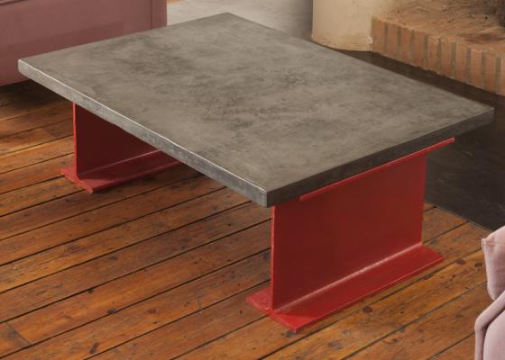 Table basse avec plateau de  6 cm. Mod. TOKIO6MM