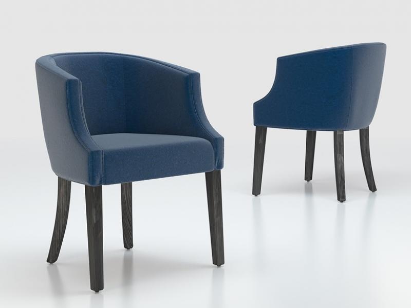 Ensemble de 2 fauteuils garnis. Mod. ENZ48884