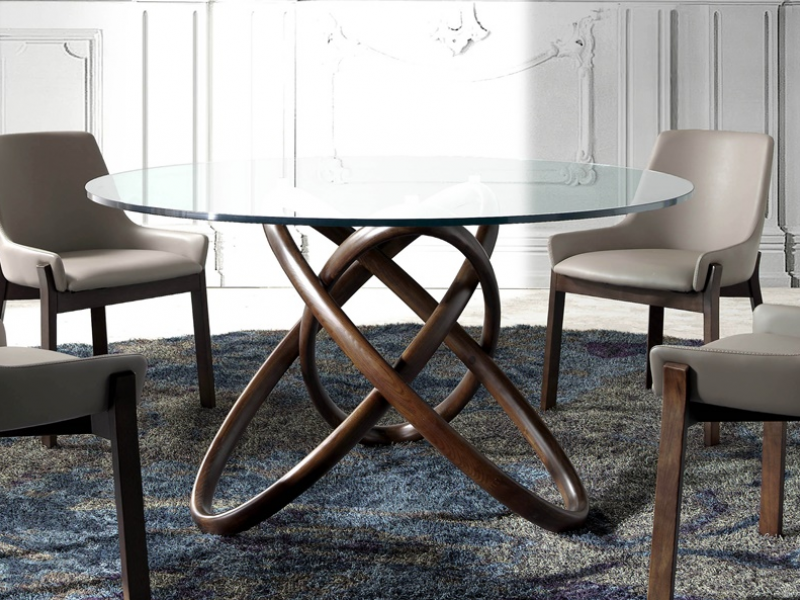 Table � manger ronde. Mod. TWIN