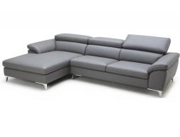 Canapé avec chaise longue en cuir. Mod. LOLA