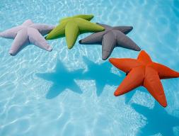 Pouf en forme d'étoile. Mod. STAR FISH