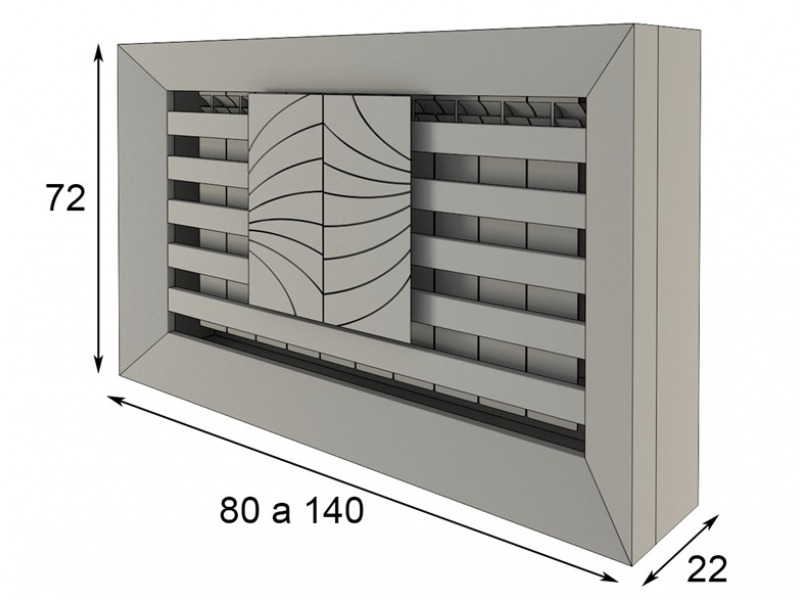 Couvre radiateur. Mod. TESSA