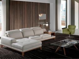Canapé cuir avec chaise longue. Mod. STELLA-L