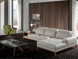 Canapé cuir avec chaise longue. Mod. STELLA-R