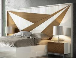 Tête de lit laquée et en bois de chêne. Mod: IKU XXL