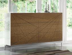Commode en bois  de chêne et laquée. Mod: IKU