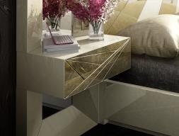 Table de nuit laquée à 1 tiroir - ensemble de  2 unités. Mod: LUXURY