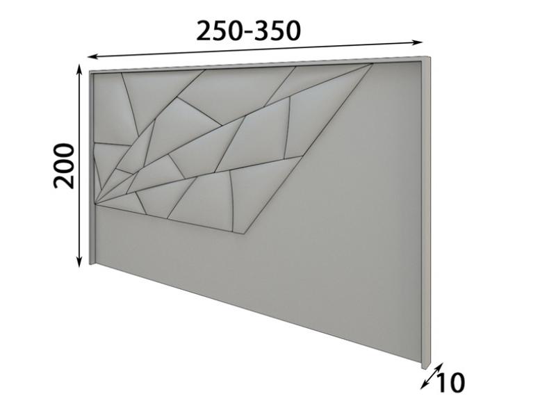 T�te de lit tapiss�e et en bois de ch�ne. Mod: NAUGE XXL
