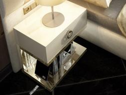 Table de nuit à 1 tiroir - ensemble de  2 unités. Mod: VERDI