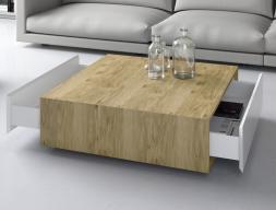 Table basse avec tiroirs. Mod. FLAME