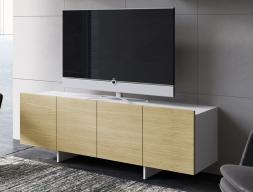 Meuble TV en chêne et laqué. Mod. DANNA