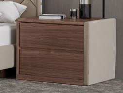 Table de nuit  en bois et tapissées - ensemble de  2 unités. Mod. NATALIE