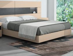 Tour de lit en chêne avec angles arrondis. Mod. HABANA