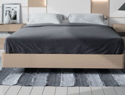 Tour de lit en chêne avec angles arrondis. Mod. MONTERREY