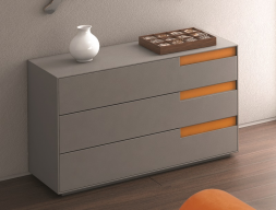 Commode 3 tiroirs avec fermeture amortie. Mod: LIS