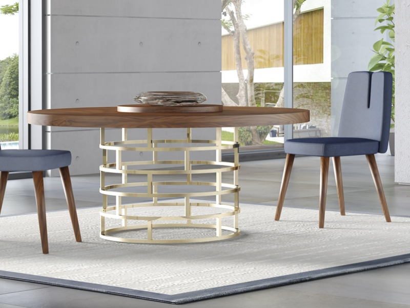 Table ronde fixe et extensible. Mod. DOLCE