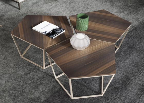 Table basse  modulaire. Mod. APE